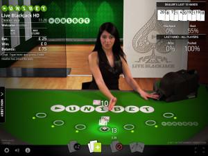 Unibet Live Blackjack - Net Ent