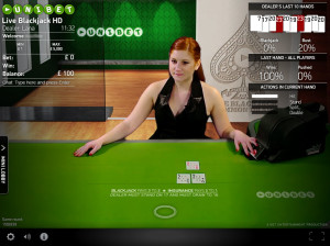 Unibet Live Blackjack - Net Ent Common Draw