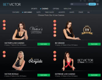 betvictor live blackjack home