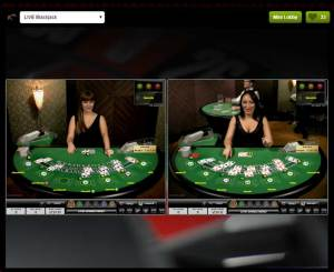 Come Live Blackjack - Multi Table View
