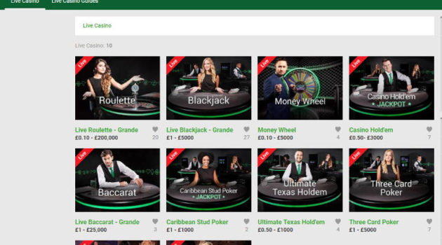 unibet live blackjack