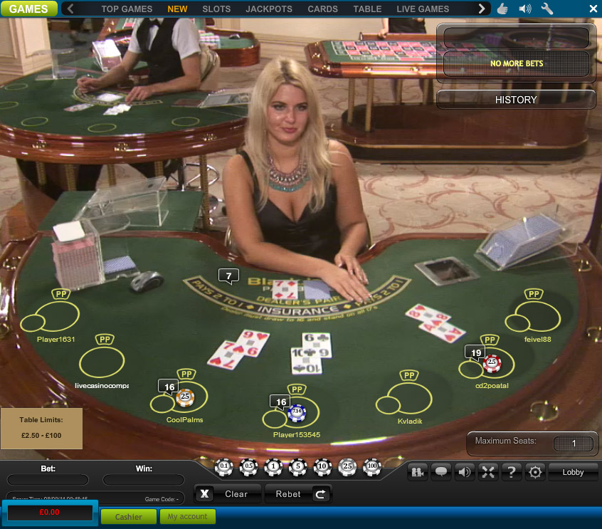 live blackjack online minimum bet