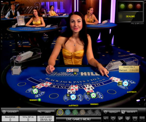 William Hill live Blackjack - Evolution 7 seat Blackjack