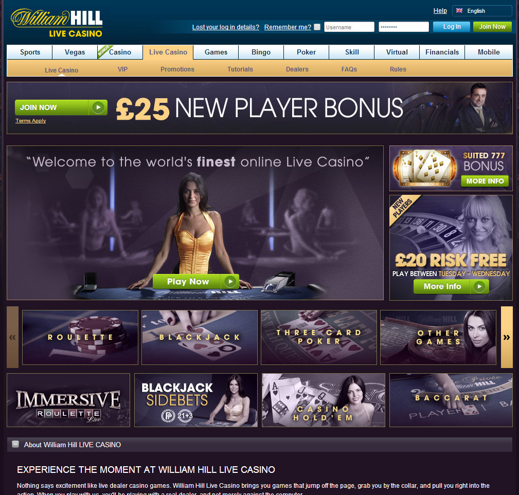 william hill live казино